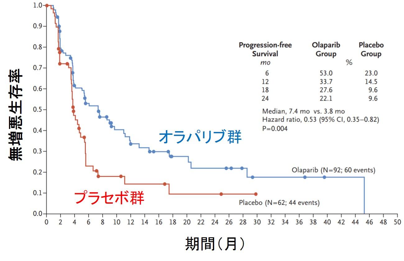 オラパリブ膵臓がん無増悪生存NEJM
